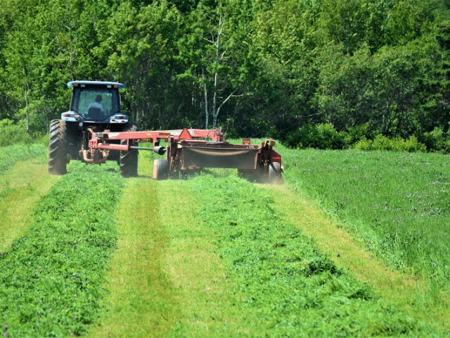 Hay mower and tractor PEI